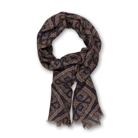 Mediterranean Patterned Scarf