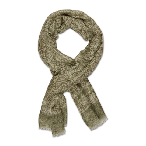 Green Patterned Scarf