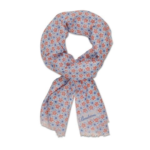 Red/Blue Floral Patterned Scarf