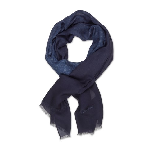 Blue Patterned Modal Cashmere Scarf