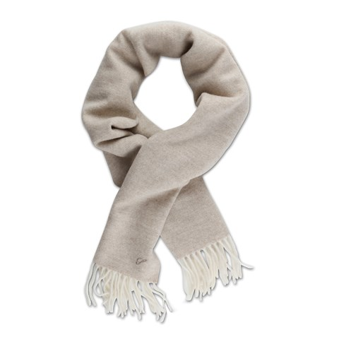 Twill Wool Scarf Light Beige