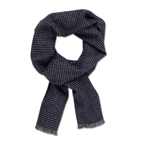 Wool Scarf, Navy