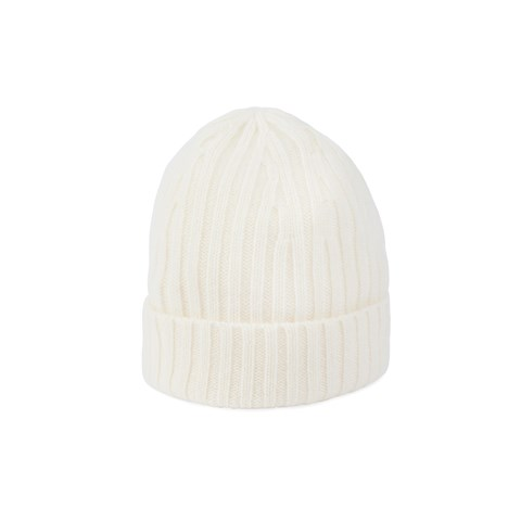 Off-White Ribbed Cashmere Hat