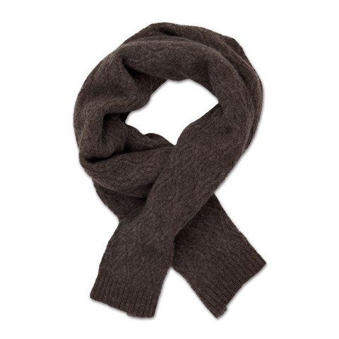 Brown Yak & Merino Wool Scarf