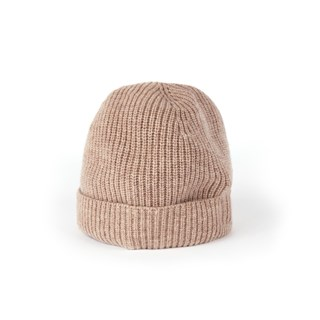Camel wool & cashmere hat