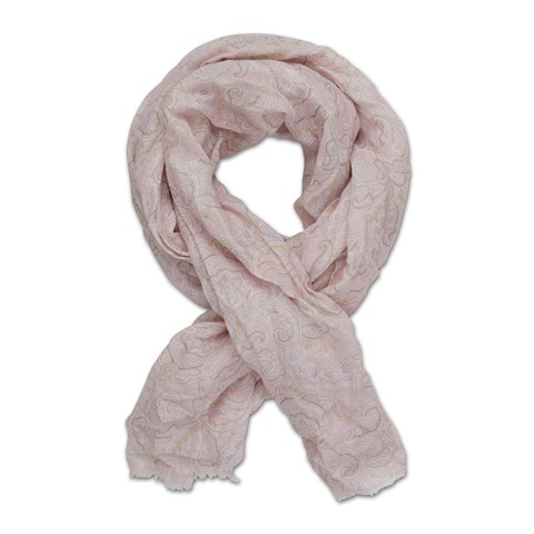 Light Pink Paisley Scarf