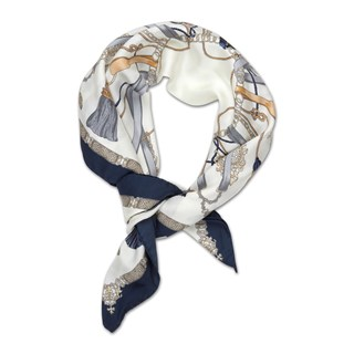 Tassel Patterned Silk Scarf