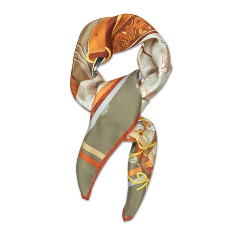 Saddle Themed Silk Scarf