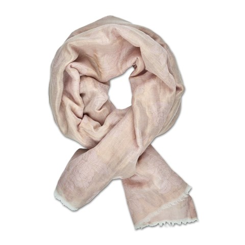 Pink Metallic Flowers Scarf