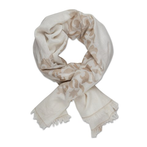 Off-White Lily Paisley Patterned Scarf