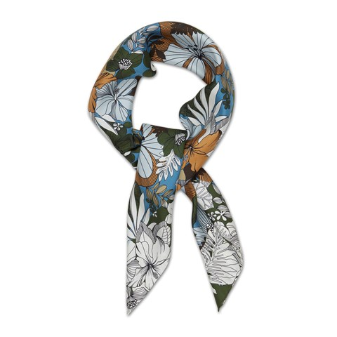 Graphic Flowers Scarf