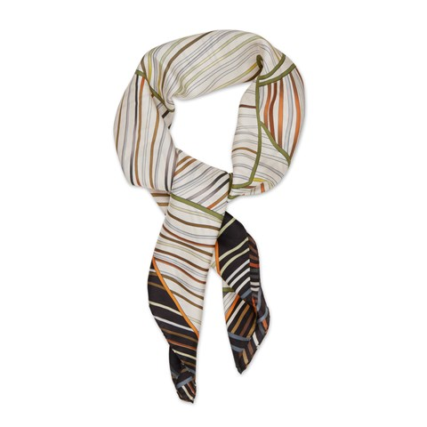 Big Leaf's Motif Silk Scarf
