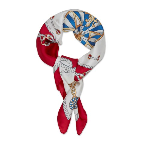 Sailor Ropes Motif Silk Scarf