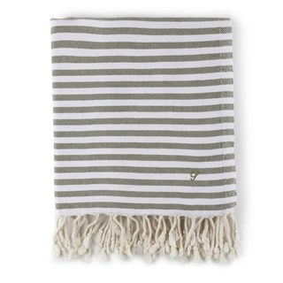Striped Beach Towel Olive